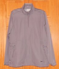 Ladie's Nike Large Golf Gray Long Sleeve Light Weight 1/4 Zip Pullover Jacket
