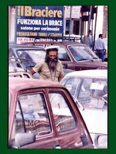 FOTOGRAFIA PHOTO NAPOLI 1980 LAVORO DI SOPRAVVIVENZA IL PARCHEGGIATORE FILOSOFO