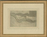 Moya Greenhow - Signed & Framed 1977 Etching, Reclining Nude