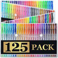 125 Gel Pens + Carrying Case (XL Set) - 125 Individual Colors (No Duplicates)