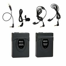 Movo 2.4 Ghz Wireless Miniature Microphone System For Canon Eos 80D, 77D, 7