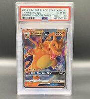 Charizard GX *PSA 10*2019 PM SM Black Star SM211 Promo Hidden Fates Tins Pokémon