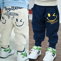 Boys Kids Emoji Children Joggers Clothes Harem Slacks Sweat Pants Loose Trousers