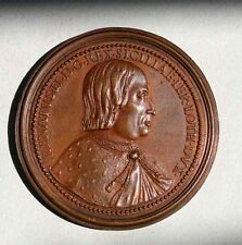 RENE II ( 1451-1508 ) PHILIPPA OF GUELDERS SICILIA COPPER MEDAL
