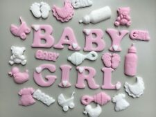Edible Icing Cake Topper -Baby Girl +Shower/christening Baby Items X20