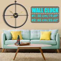 50cm / 60cm 3D Large Retro European Black Iron Art Hollow Wall Clock Home  ❃