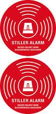 2x STILLER ALARM ABUS Aufkleber Funk Alarmanlage Dummy Einbruchschutz Sicherheit