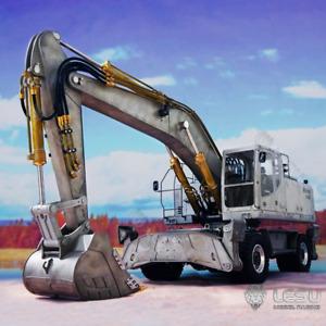 1/14 LESU Metal Hydraulic Aoue ET30H Wheeled RC Model Excavator Pump Valve Light