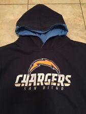 REEBOK ON FIELD NFL SAN DIEGO CHARGERS HOODED SWEATSHIRT HOODIE YOUTH L  14 16 2a785fe98
