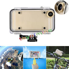 Extreme Sports Waterproof Case with 170 Degrees Wide Angle Lens for iPhone 6S 6