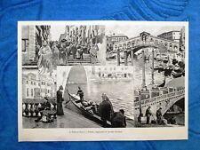 Illustrazione Italiana 1898 - Il Ponte di Rialto a Venezia, di Arnaldo Ferraguti