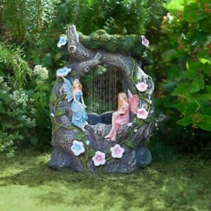 Solar Power Novelty Fairy Water Fountain Feature Outdoor Garden Elvedon Liliana