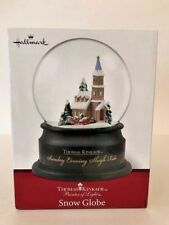 Thomas Kinkade Snow Globe Sunday Evening Sleigh Ride Hallmark 1996 Christmas