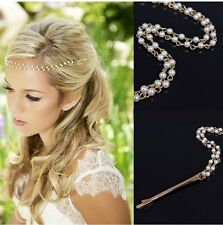 Women Alloy Head Chain Jewelry Headband Head Piece Hair band party Gift AL