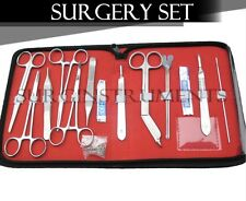 Minor Surgery Set 18 Pieces Surgical Instruments Kit Stainless Steel with Case