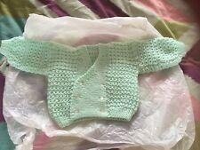 Mint green pure wool cardigan new born
