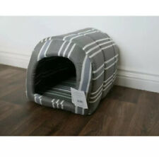 Stripped Grey And White Cave Dog/ Cat Bet. Extra Small