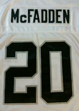 REEBOK ONFIELD OAKLAND RAIDERS DARREN MCFADDEN JERSEY PATCHED NUMBERS WHITE 48