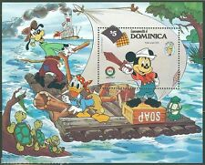 Dominica Disney Christmas 1985 Mark Twain S/S Scott #924 Mint Never Hinged