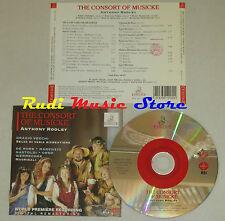 CD ANTHONY ROOLEY The consort musicke VECCHI DE RORE GASTOLDI ERMITAGE lp mc dvd