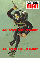 Action Man 1960's Sailor Navy Frogman A3 Size Poster Advert Shop Sign Leaflet