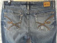 Women's BKE Buckles Dement Denim Flair Jeans Size 30 X 31.5 Distressed SE51