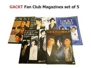 GACKT GLOBALS Official Fan Club Magazine 2010 vol.9, 2011 vol.11-13, 2012 vol.14