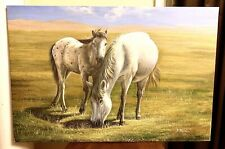 Beautiful Modern Contemporary Horses Painting Giclee Wall Art Stretched Canvas