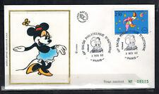 1992 - Fdc Soie 1°Jour - Minnie -Philatelie d'Automne-Obl.Paris-Yt.2776
