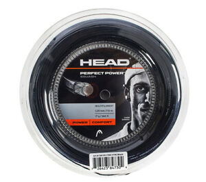 HEAD Perfect Power 1.20mm 110m 17Gauges 360ft Squash String Black Multifilament