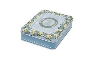 Floral Photo Album Tin Keepsake Momento Storage Sewing Box Christmas Gift Idea