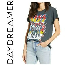 NWT Daydreamer Kiss Rock Band Tour Graphic Tee T Shirt Black Limited Edition New