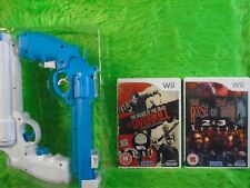 wii HOUSE OF THE DEAD x2 Games Overkill + 2 & 3 Return + 2 GUN Attachments PAL