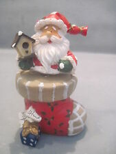 Santa Clause Bobble On A Resin Stocking