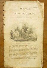 Rare 1850 SLAVE NARRATIVE Phebe Ann Jacobs HAPPY PHEBE Dartmouth BOWDOIN Tract