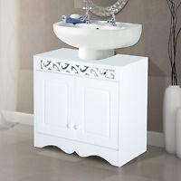 Under Sink Cabinet Storage Unit Cupboard Bathroom Double Doors Shelf Furniture