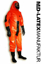 "MD-Latex - ""Hazmat"" 1,2mm - TUTA in lattice latex rubber latex Overall tuta intera"