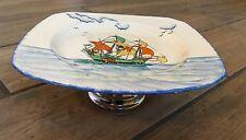 Art Deco Style Galleon Ship Cake Stand - Coronet Ware Parrot and Company England