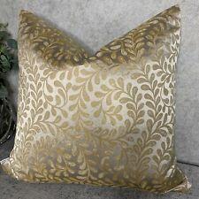 "Beautiful Cushion Cover 18"" Designer John Lewis & Partners Vera Leaf Fabric Gold"