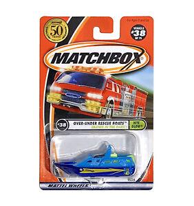 Matchbox 2002 Nite Glow RESCUE BOAT 1:64 Scale Blue Glow in the Dark 38/75 - NEW