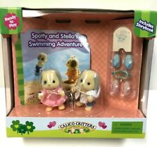 CALICO CRITTERS Spotty and Stella's Swimming Adventure CC1701 RARE NIB