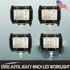 4X 4inch 3-Row 27W 9LED Car Off Road Truck Work Light Bar Fog Driving Flood Lamp