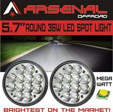 """5 3/4"""" Round H5001/H5006 Sealed Beam Hi-Power 36W LED Headlights Replacement 2PC"""