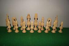 Spanish Lotus/ Pulpit wooden chess set, vintage