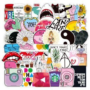 50 Pcs Cute Random Cool Vinyl Decal Graffiti Sticker Art Skate Laptop Guitar UK