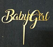 Laser Cut Wooden Cake Topper - Baby Girl