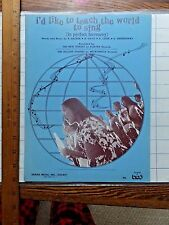 I'd Like to Teach the World to Sing. 1971 Sheet Music. Coca-Cola copyright.