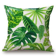 Classical Floral Tropical Plant Leaf Cushion Covers Waist Pillow Case Home Decor