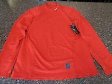 Nike Pro Warm Red Long Sleeve Fitted Training Shirt Turtleneck Medium NWT