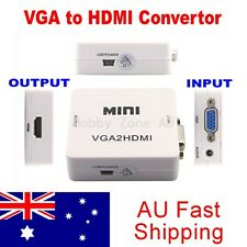 VGA to HDMI Female to Female Video Adapter VGA2HDMI Converter with Audio HD1080P